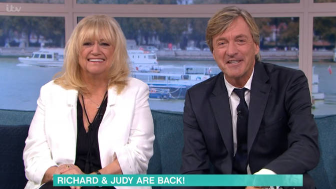Richard Madeley and Judy Finnigan to present This Morning today