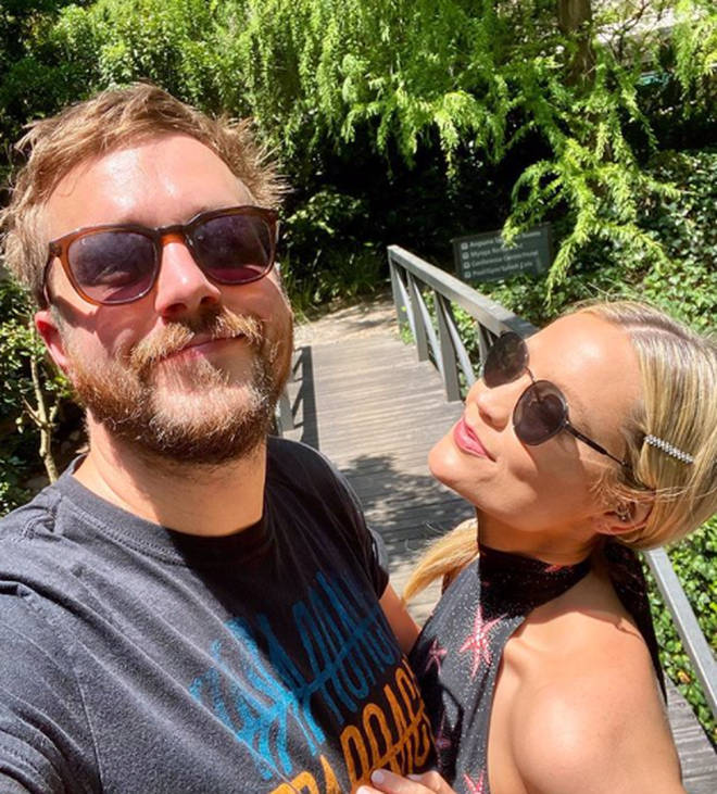Laura Whitmore and Iain Stirling were reunited for the first time since their friend passed away