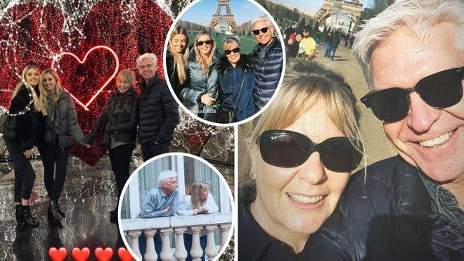 Phillip Schofield and his family spent some quality time together in Paris during the half term break