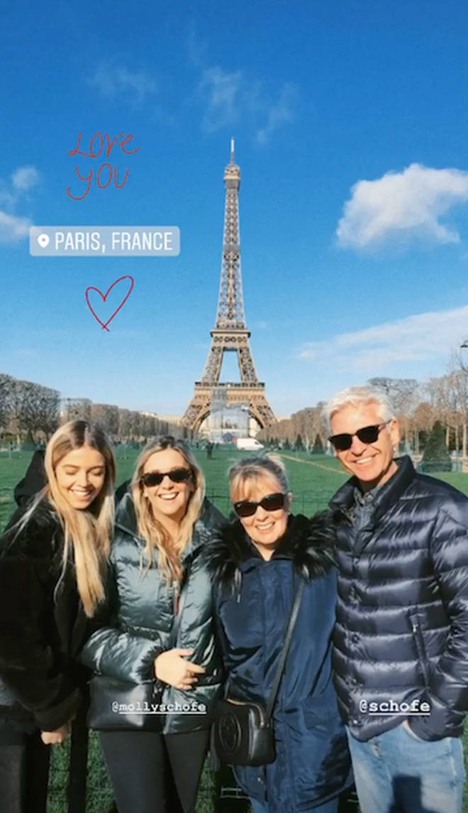 Phillip Schofield's wife and daughters have been supporting him