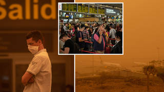 Holidaymakers were left stranded over the weekend due to the sandstorm