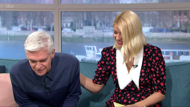 Phillip Schofield looked emotional as Brian Cox said he was proud of him