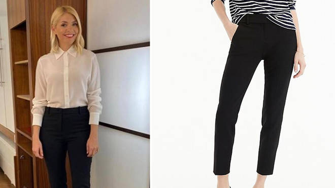 Holly Willoughby's trousers are from J Crew