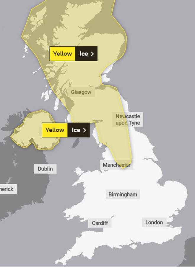 Parts of the UK have a weather warning in place at the moment