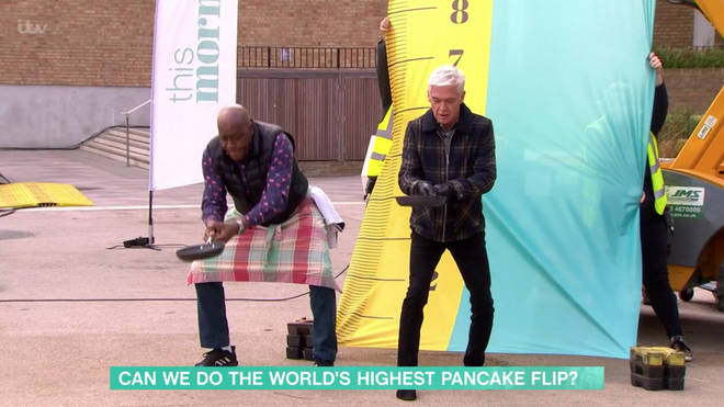 Ainsley Harriott and Phillip Schofield attempted a world record