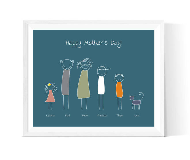 Mother's Day family print