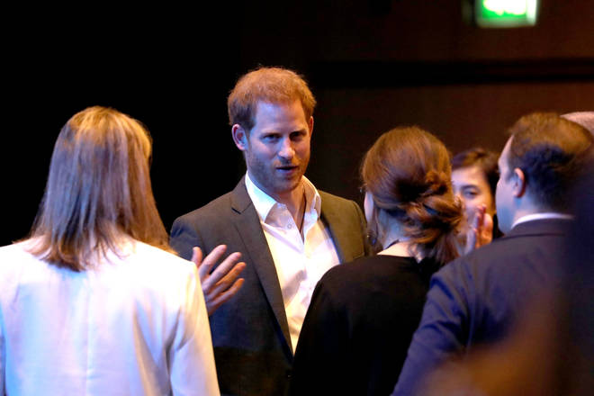 Prince Harry chatted to delegates and representatives from across the tourism industry