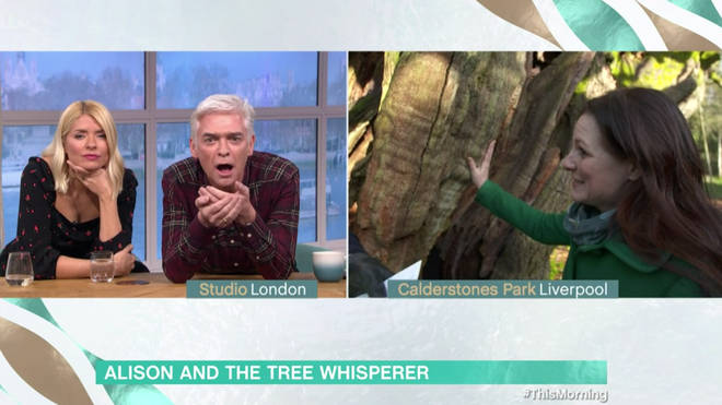 Phillip Schofield was left shocked at Holly's ability to 'talk' to the tree