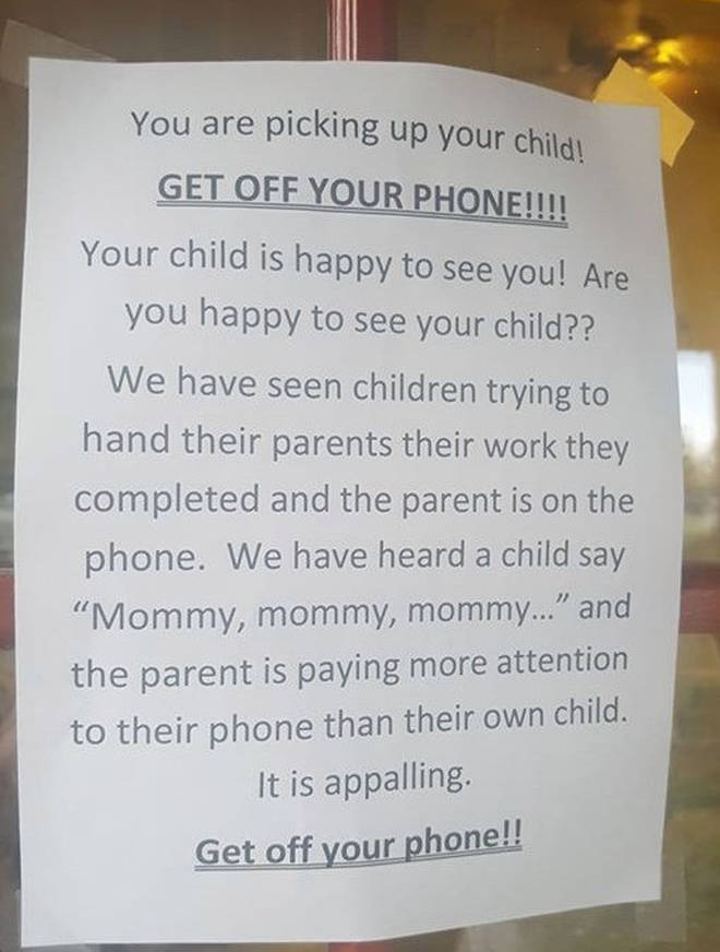 The notice really riled people up