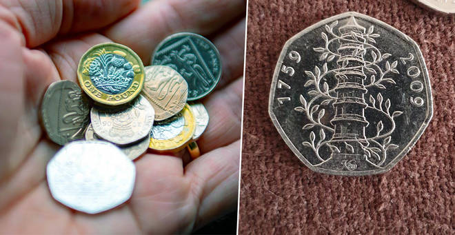 A Kew Gardens 50p coin has sold for £200