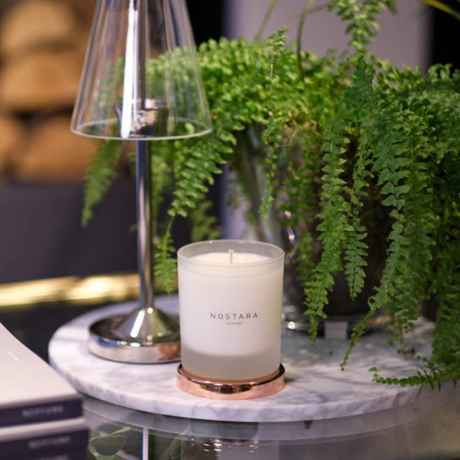 Nostara's candles have fresh scents