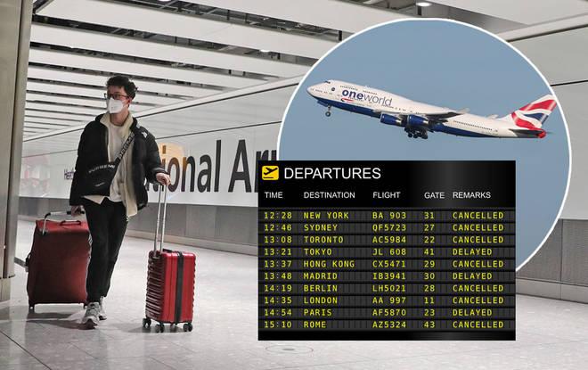 British Airways' flights have been cancelled