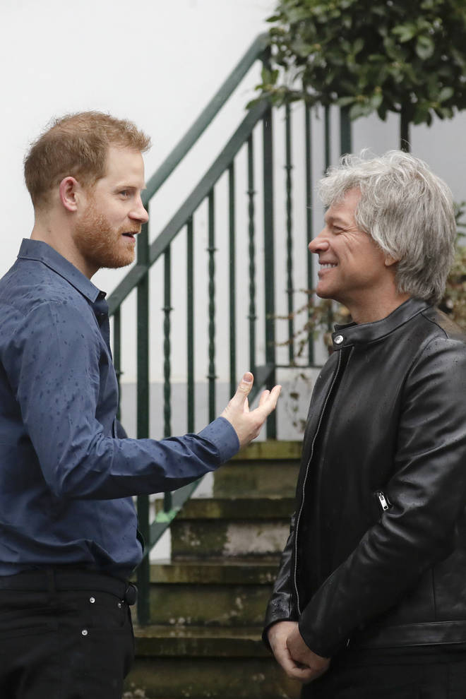 Prince Harry and Jon Bon Jovi appeared to get on like a house on fire during their meeting