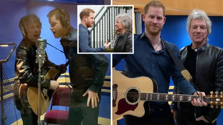Prince Harry duets with Jon Bon Jovi as he records charity single for the Invictus Games