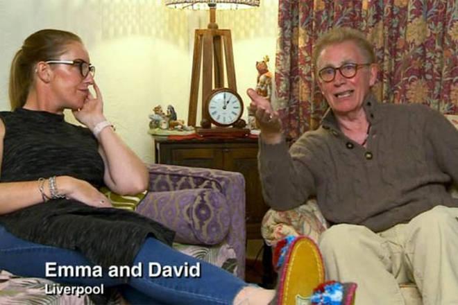 Emma and David on Gogglebox