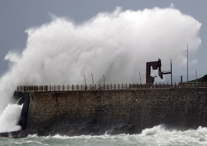 The Spanish met office has named the severe weather Storm Jorge