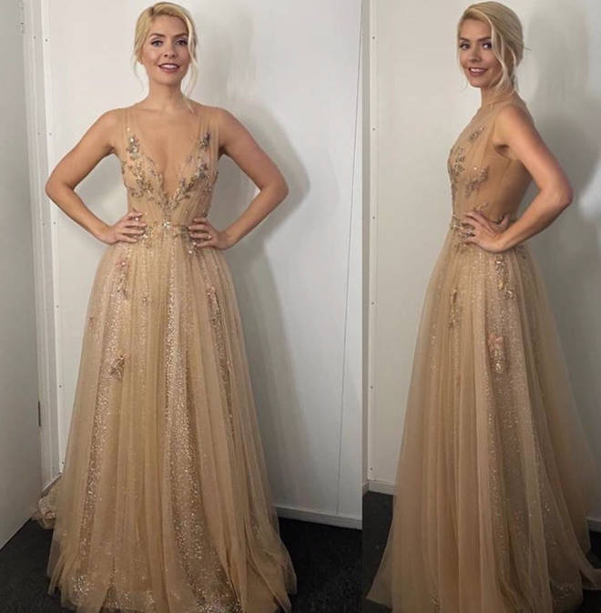 Holly Willoughby looked incredible in the nude gown