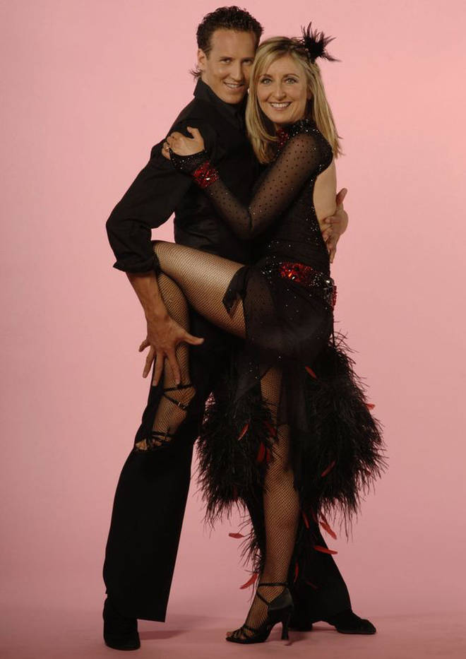 Brendan Cole and Fiona Phillips appeared on Strictly in 2005