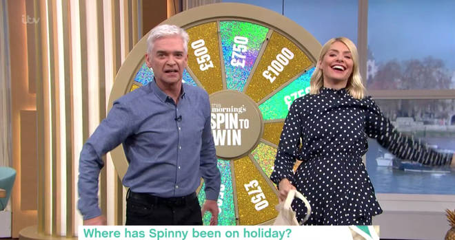Phillip Schofield fumed during the Spin To Win game