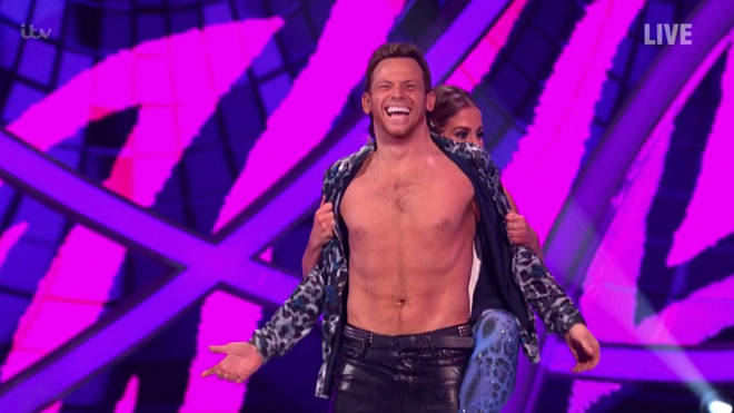 Joe Swash proudly showed off his toned figure on Dancing On Ice