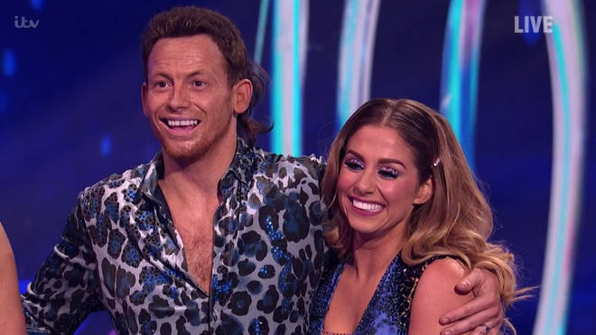 Joe Swash and his partner er Alex Murphy scored a strong 38 out of 40 for their sexy dance