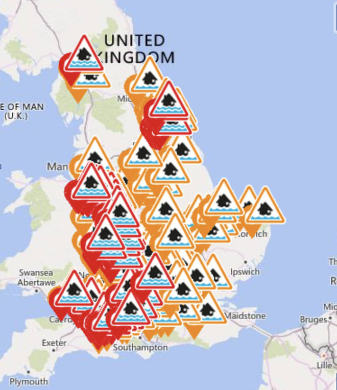 England is covered in weather warnings at the moment, ranging in severity
