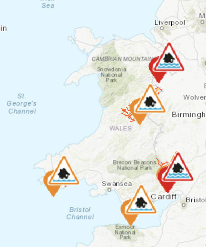 Wales doesn't have as many warnings in place