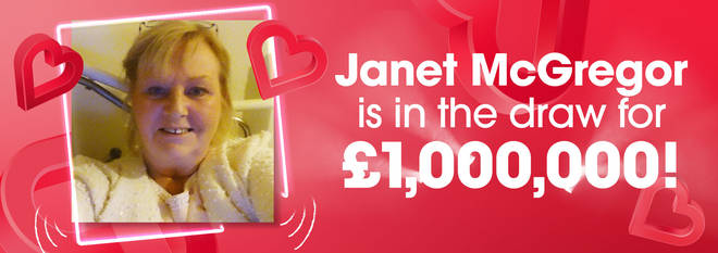 Janet's not had a holiday in 20 years so she's hoping she'll be a millionaire in May!