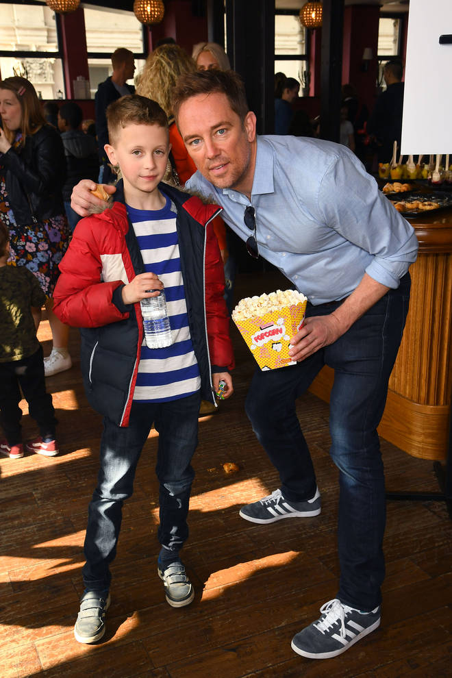 Simon and his adorable son Ethan, 8, are adjusting to life without mum