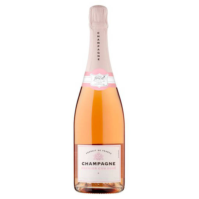 Tesco have a reasonably-priced bottle of rose champagne