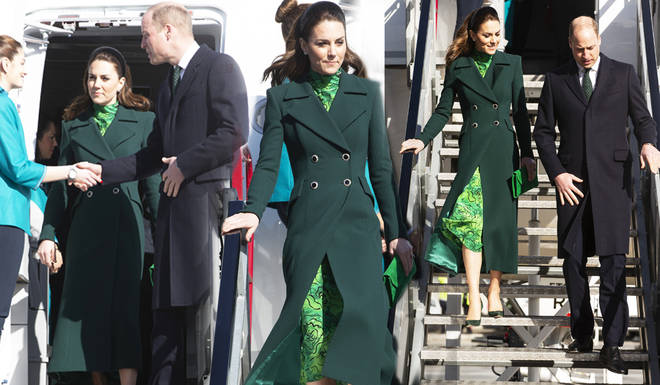 Kate Middleton and Prince William arrived in Ireland on Tuesday