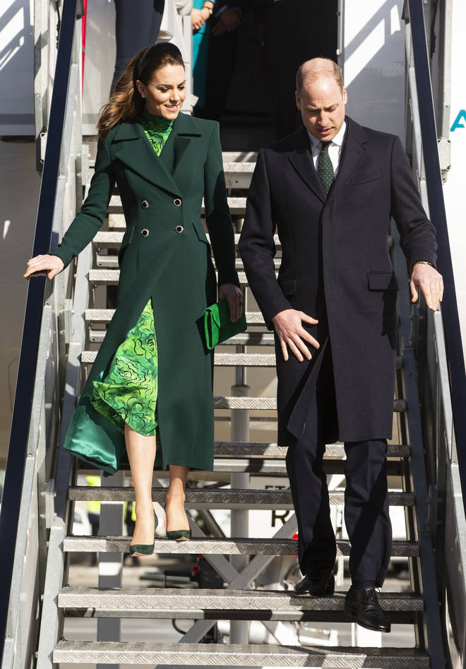 Kate Middleton dressed in head-to-head green to honour their hosts