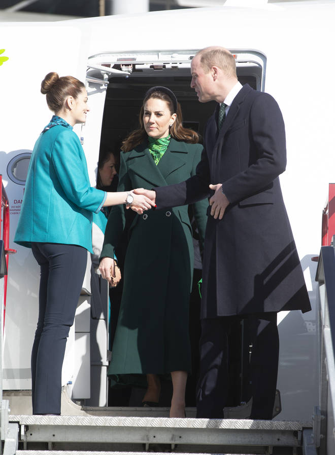 The Duke and Duchess of Cambridge arrived at Dublin International Airport in the afternoon