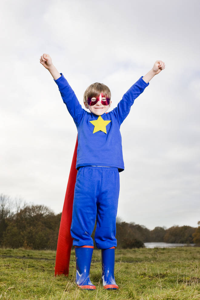 Children will be banned from dressing up as superheroes at the school (stock image)