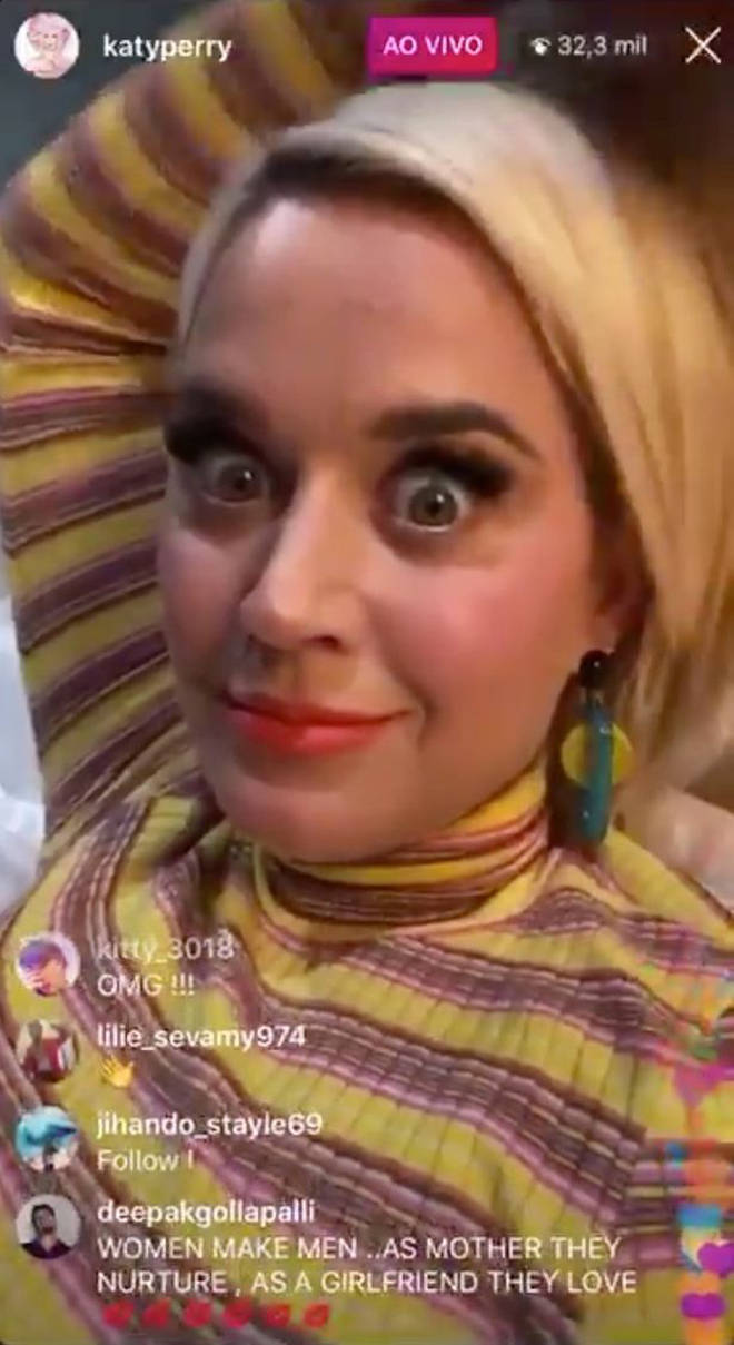 Katy Perry spoke about her exciting news on Instagram.