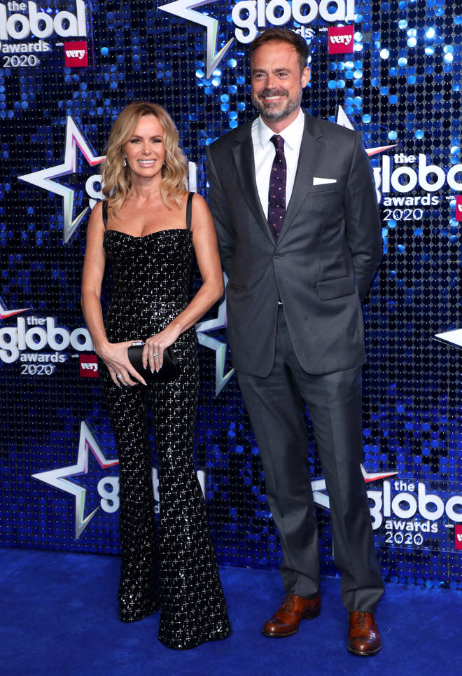 Amanda Holden and Jamie Theakston at The Global Awards 2020