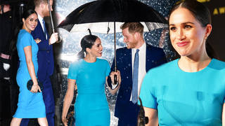 Meghan Markle and Prince Harry were all smiles in London on Thursday night