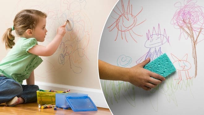 A woman has revealed how coconut oil gets crayon out of walls