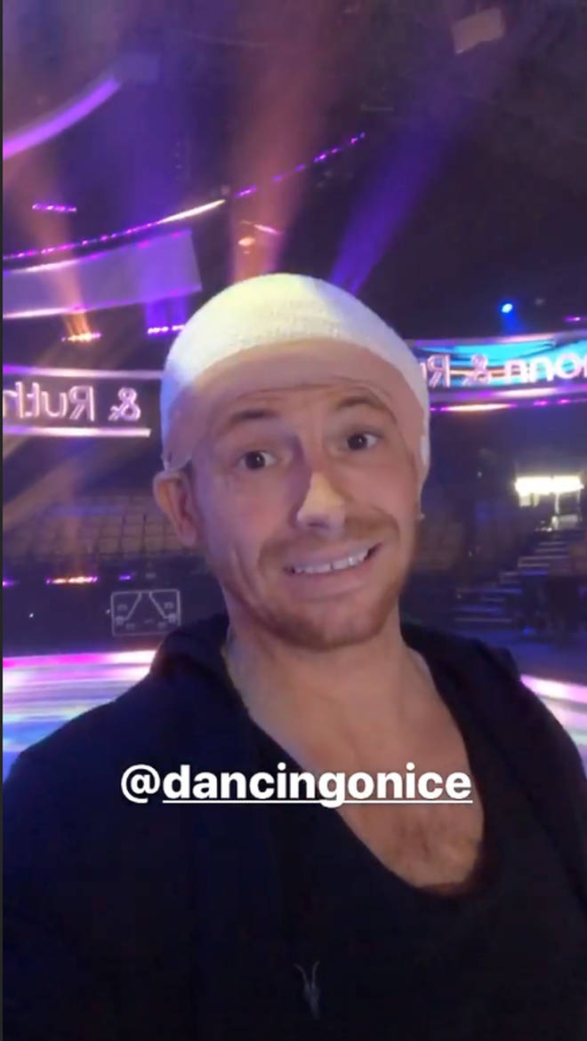 Joe Swash has been given an even bigger bandage ahead of the Dancing On Ice final this weekend