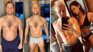 Olly Murs has showed off his weight loss on Instagram