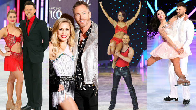 Who are the Dancing On Ice winners over the past 12 series?