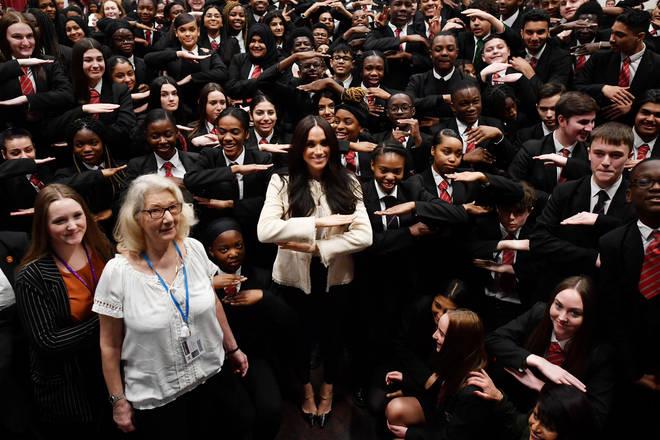 Meghan Markle visited the Dagenham school for International Women's Day