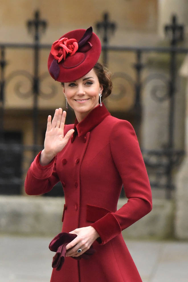 Kate Middleton also attended the event with Prince William, wearing a red ensemble