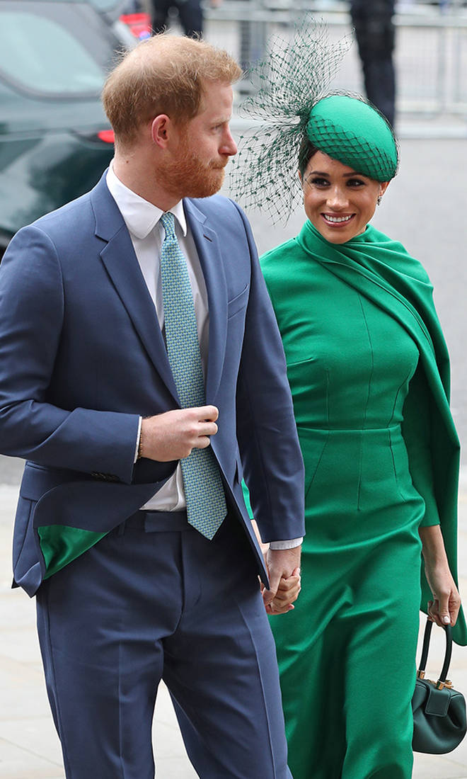 Prince Harry matched wife Meghan Markle with emerald green lining in his suit