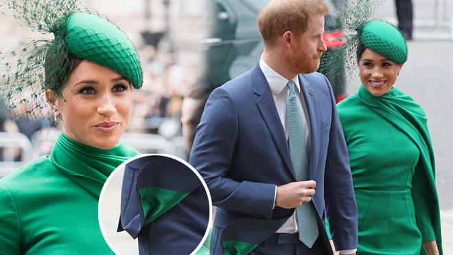 Meghan Markle could have been sending a message with the colour of her ensemble