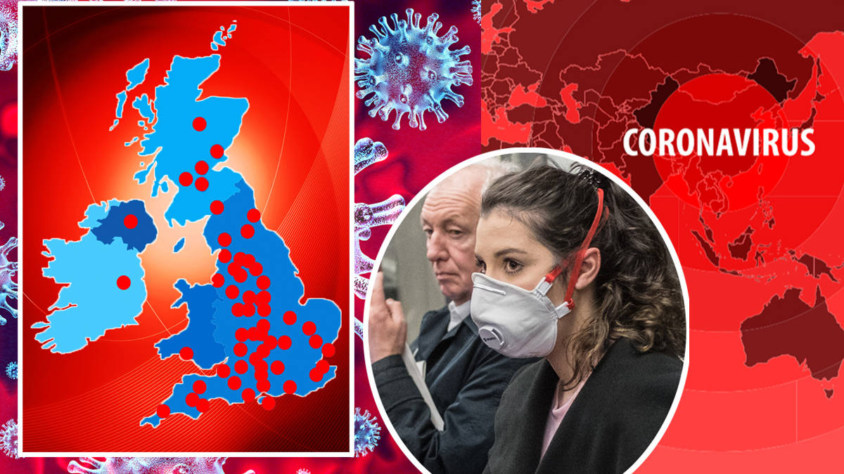 Coronavirus Uk Map Where In Britain Are The Confirmed Covid 19 Cases As Cases Rise To Heart