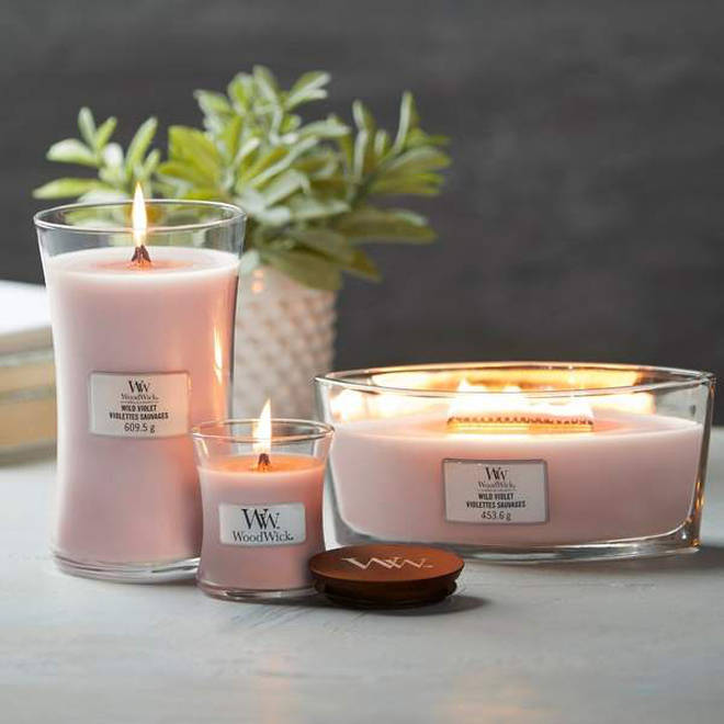 WoodWick candles crackle like an open fire - a real sensory experience