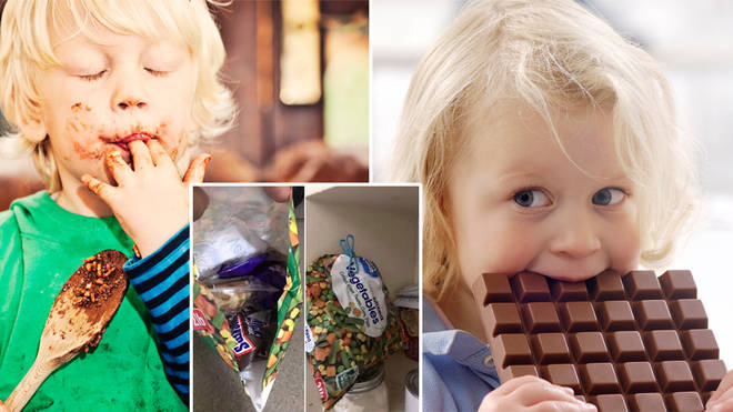 A mum has shared a genius way of hiding chocolate from your kids (stock images)