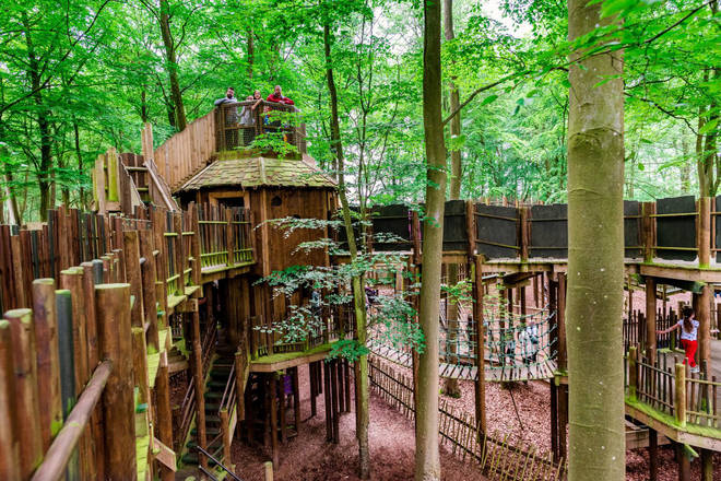 The huge woodland theme park has 10 large activities to do