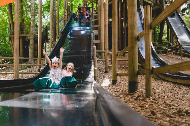 Children can enjoy the simple rides and activities